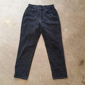 Vintage LEE faded black denim mom jeans highrise